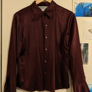 100% silk Brooks Brothers button up